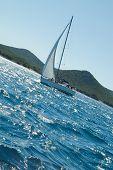 Yacht At The Mediterranean Sea Croatia