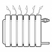 Heating Battery Icon. Outline Illustration Of Heating Battery Icon For Web Design poster