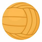 Volleyball Ball Icon. Cartoon Illustration Of Volleyball Ball Icon For Web poster