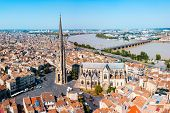 Bordeaux Aerial Panoramic View. Bordeaux Is A Port City On The Garonne River In Southwestern France poster