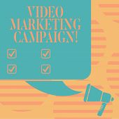 Word Writing Text Video Marketing Campaign. Business Concept For Assessing The Benefit Of Digital Ca poster