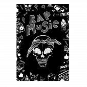 Flyer, Poster Rap Battle, Concert Hip-hop Music. Vector Template Design, Brochure, Cover Book, Page poster