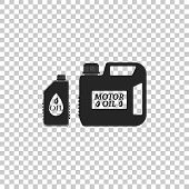 Plastic Canister For Motor Machine Oil Icon Isolated On Transparent Background. Oil Gallon. Oil Chan poster
