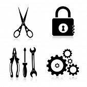 Vector tools icons