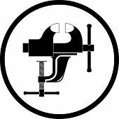 vector icon of clamp