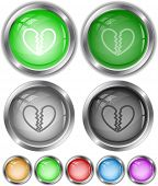 Unrequited love. Vector internet buttons.