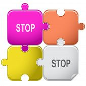 Stop. Vector puzzle.