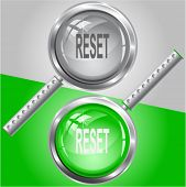 Reset. Vector magnifying glass.