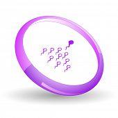 Spermium. Vektor-Symbol.