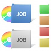 Job. Box with compact disc.