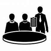 Political Meeting Icon. Simple Illustration Of Political Meeting Icon For Web Design Isolated On Whi poster