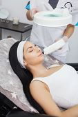 Laser Epilation And Cosmetology.at Cosmetic Beauty Spa Clinic. Hair Removal Cosmetology Procedure Fr poster