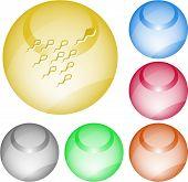 Spermium. Vektor-Interface-Element.