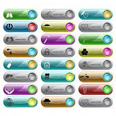 foto of french curves  - Vector set of internet buttons - JPG