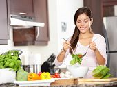 Woman Making Salad
