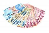 Turkish money isolated