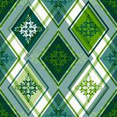 Seamless Green Rhombic Pattern