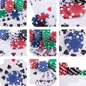 Collage Of Images Poker Theme
