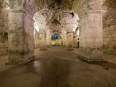 Lower Floor Of The Great Roman Emperor Diocletian's Palace In Split