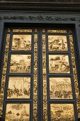 Bronze Door By Ghiberti, Florence, Italy.