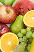 Closeup Of Various Fruits
