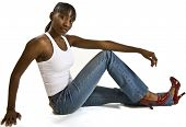 Pretty African American Model