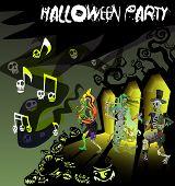 Cartão de vetor de Halloween