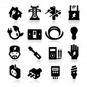 stock photo of electricity  - electricity Icons - JPG