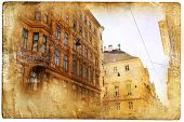 views of Vienna in vintage style