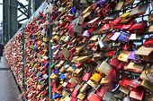 lockers at the Hohenzollern bridge