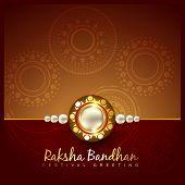 stock photo of pooja  - vector raksha bandhan festival background design - JPG