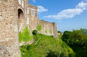 Medieval Dover Castle in England