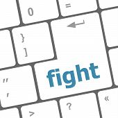 Fight Button On Computer Pc Keyboard Key