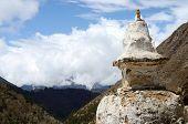 Old Tibetan Stupa In Nepal ,khumbu Region,himalayas