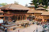 Local people resting at Durbar Square in Kathmandu ,Nepal