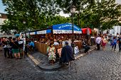 Place Du Tertre In Montmartre, Paris, France
