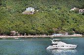 Boats And Swimmers At Deepwater Bay, Hong Kong Island