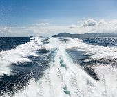 Boat Wake On The Water