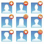 Vetor ícones de mídias sociais