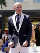 LOS ANGELES - JUN 19:  Pitbull arrives to the Walk of Fame Honors Jennifer Lopez  on June 19,2013 in