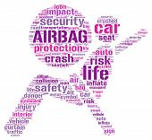Air bag pictogram tag cloud
