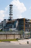 picture of reactor  - Chernobyl nuclear reactor power station under sarcophagus - JPG