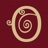 ornamental letter O