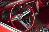 Red And White 1968 Chevy Camaro 327 Interior