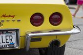 Yellow 1968 Chevy Corvette Roadster Tail Lights