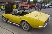 Yellow 1968 Chevy Corvette Roadster Drivers Side