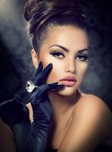 pic of woman glamorous  - Beauty Fashion Glamour Girl Portrait - JPG
