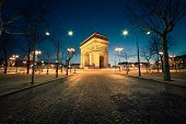 stock photo of charles de gaulle  - Arc de Triomphe Paris - JPG