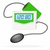 Digital Blood Pressure Monitor. Vector Illustration