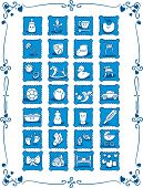 Blue Baby-Theme Cartoon Icons